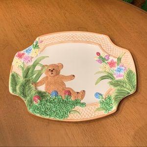 Boyds Bears Ceramic Spring Platter